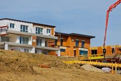 New construction of single-family homes Stock Photos