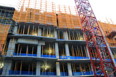 New construction site in the city Royalty Free Stock Photo