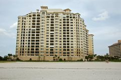 New construction of timeshare on Florida Beach Royalty Free Stock Images