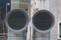 New construction tubes ventilation system.  royalty free stock photos