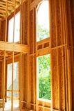 New Construction/Windows. View of window details in a new house royalty free stock photo