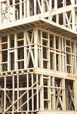 New Construction Wood Home Stock Photography