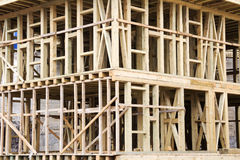 New Construction Wood Home Royalty Free Stock Photos