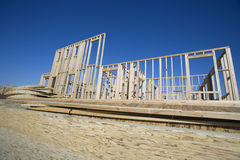 New Construction Of A Wooden Building Royalty Free Stock Images