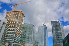 New construtions buildings Royalty Free Stock Photography