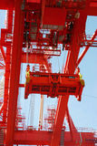 New Container crane. Container crane for lifting containers on cargo ships Royalty Free Stock Photography