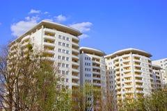 New Contemporary Apartment Building Stock Photos