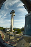 New Control Tower -view from the wagon tracks Royalty Free Stock Photography