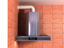 New cooker hood detail Royalty Free Stock Image