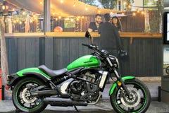 New cool Kawasaki cruiser motorcycle Stock Image