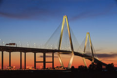 Charleston Cooper River Ravenel Bridge SC Royalty Free Stock Images
