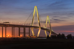New Cooper River Bridge, Charleston, South Carolina Royalty Free Stock Image