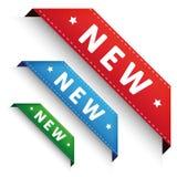 New Corner banner - Crorner ribbon set Stock Photo