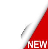 New corner label Stock Photo