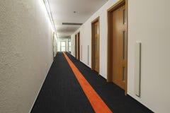 New Corridor with Doors to Office Stock Image