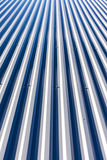 New corrugated metal roof on top of industrial building Royalty Free Stock Photography