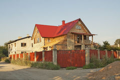 New cottage. The process of new building construction Stock Image