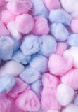 New Cotton balls, abstact multicolored background Royalty Free Stock Images
