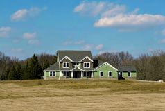 New Country Home. A new two story home with a modern design that is being built in the country Stock Images