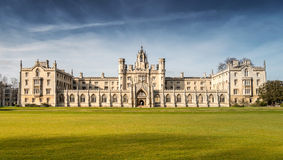 New Court's Clock Tower (Full) - St John's College. Cambridge, UK - March 22, 2015: Full View of New Court's Clock Tower of St John's College, University of royalty free stock images