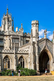 New Court of St John`s College in Cambridge University. Cambridg Royalty Free Stock Images