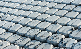 New coverage of an embankment talus Royalty Free Stock Photo