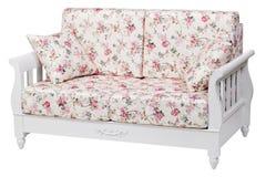 New cozy sofa over white Stock Photo