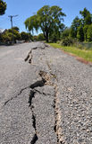 New Cracks in Avonside, Christchurch Earthquake Stock Images
