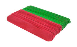 New craft sticks in holiday green and red Stock Images