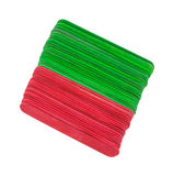 New craft sticks in holiday hues Stock Images