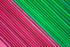 New craft sticks in holiday hues Stock Photo