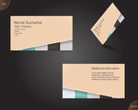New creamy business card layout Stock Photography