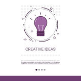 New Creative Idea Innovation Banner With Copy Space. Thin Line Vector Illustration Royalty Free Stock Images