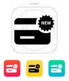 New credit card icon. Vector illustration vector illustration
