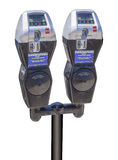 New credit card parking meters, isolated Royalty Free Stock Photography