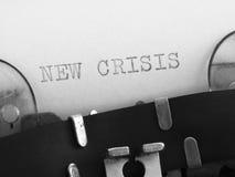 New crisis concept Stock Photo