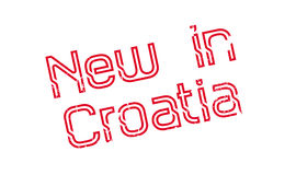 New In Croatia rubber stamp Royalty Free Stock Photography