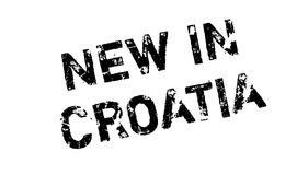 New In Croatia rubber stamp Stock Photo