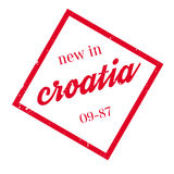 New In Croatia rubber stamp Royalty Free Stock Photos