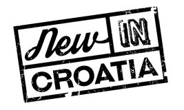 New In Croatia rubber stamp Stock Images