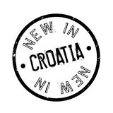 New In Croatia rubber stamp Stock Image