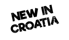 New In Croatia rubber stamp Royalty Free Stock Photo