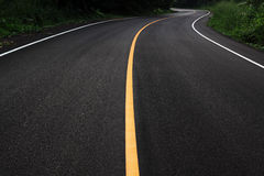 New curve road. Go to the national park thailand Royalty Free Stock Photo