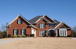 New Custom Built House Royalty Free Stock Photography