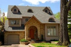 New custom home Stock Photo