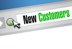 New customer browser sign concept Royalty Free Stock Photography