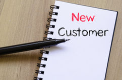 New customer concept on notebook Stock Image
