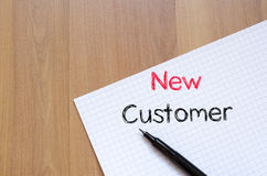 New customer concept on notebook Stock Images