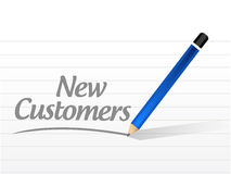 New customer message sign concept Royalty Free Stock Image