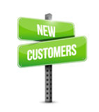 New customer road sign concept Stock Photo